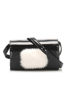 Ysl Patent Leather Crossbody Bag Black
