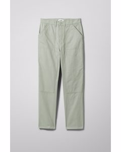 Darien Canvas Trouser Khaki Green