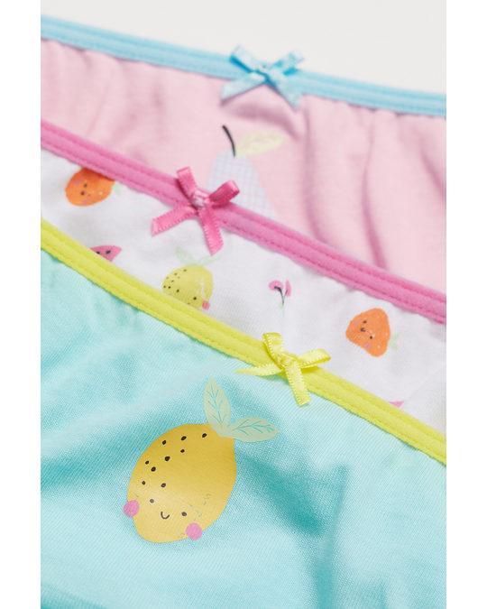 H&M 7-pack Cotton Briefs Pink/fruit