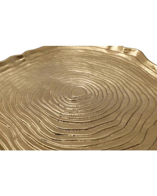 360Living Decorative Try Wood Art 425 Gold