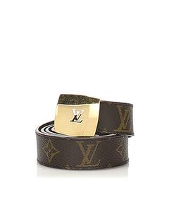 Louis Vuitton Monogram San Tulle Belt Brown