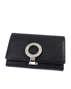 Bvlgari Leather Key Holder Black