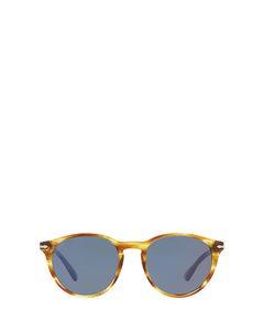 Po3152s Striped Brown & Yellow Zonnenbrillen