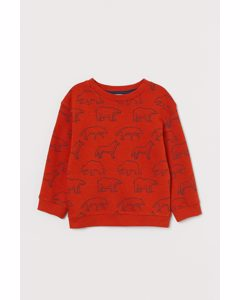 Sweatshirt Dunkelorange/Tiere