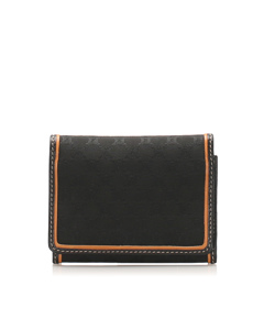 Celine Triomphe Velour Card Holder Brown