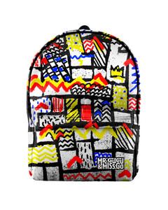 Mr. Gugu & Miss Go Mondrian Unisex Backpack Cartoon White