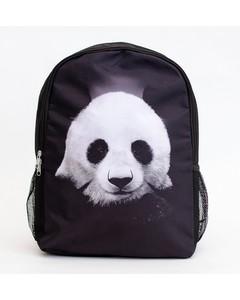 Mr. Gugu & Miss Go Panda Unisex Backpack Pitch Black