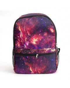Mr. Gugu & Miss Go Purple Nebula Unisex Backpack Galaxy Puprle