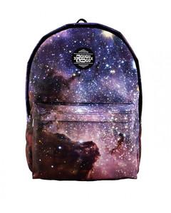 Mr. Gugu & Miss Go Violet Nebula Unisex Backpack Galaxy Violet