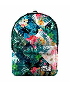 Mr. Gugu & Miss Go Flowers Jungle Unisex Backpack Flowery Green
