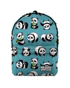 Mr. Gugu & Miss Go Panda Life Unisex Backpack Happy Teal