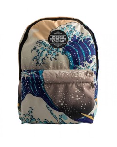 Mr. Gugu & Miss Go Kanagawa Wave Unisex Backpack Breeze Beige