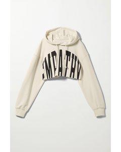 Gelina Crop Hoodie Off-white