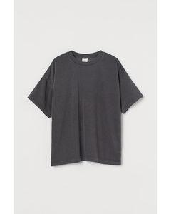 Oversized T-shirt Donkergrijs