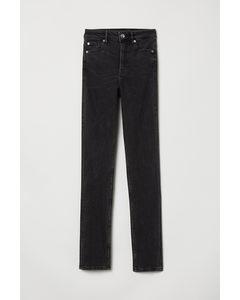 Slim High Jeans Zwart Denim