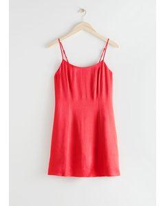 Spaghetti Strap Mini Dress Red