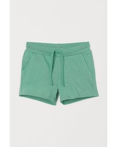 Short Van Katoenen Tricot Groen