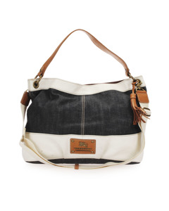 Burberry Denim Satchel Black
