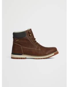 Boots Lace Up Fur Rust