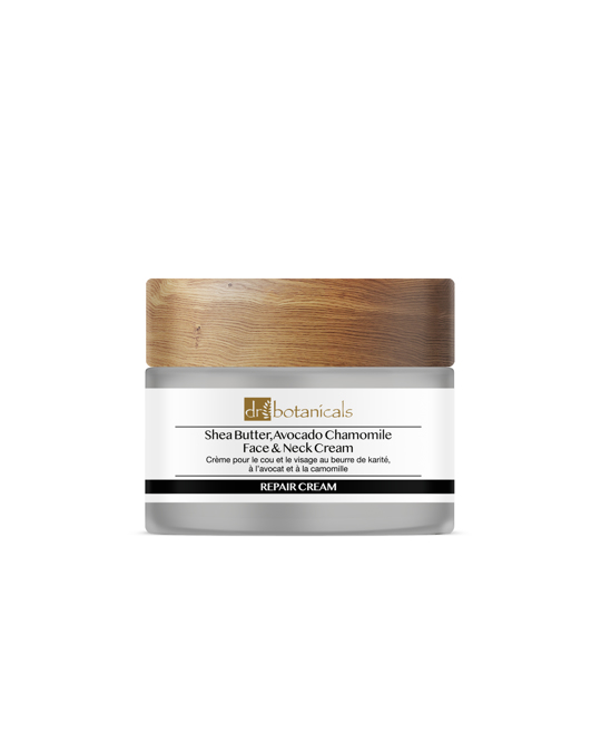 Dr Botanicals Shea Butter & Avocado Face & Neck Cream With Chamomile Clear