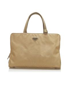 Prada Tessuto Tote Bag Brown