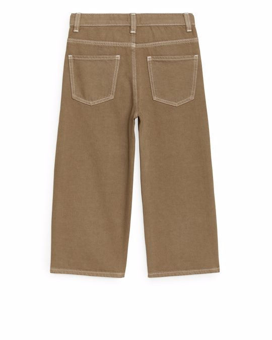 Arket Wide Jeans Dark Beige
