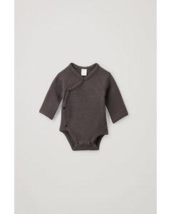 BEDRUCKTER BABY-BODY AUS BIO-BAUMWOLLE Dunkelgrau