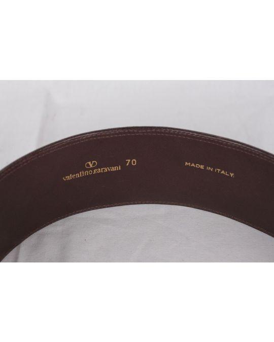 Valentino Valentino Garavani Vintage Brown Embossed Leather Waist Belt Size 70
