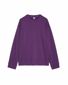 Relaxed Heavyweight Sweatshirt Purple