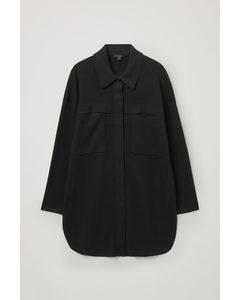Knitted Tunic Shirt Black