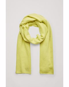 Unisex Knitted Cashmere Scarf Yellow