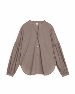 Fluid Lyocell Blouse Taupe