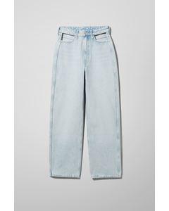 Jeanshose Lasso mit Ausschnitten Blau