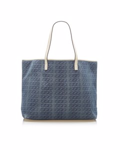 Gucci Interlocking G Canvas Tote Bag Blue