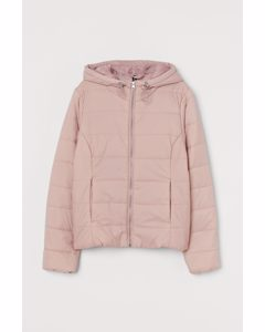 Puffer Jacket mit Kapuze Rosa