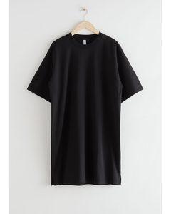 Relaxed T-shirt Mini Dress Black
