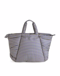 Puffy Nylon Tote Bag White