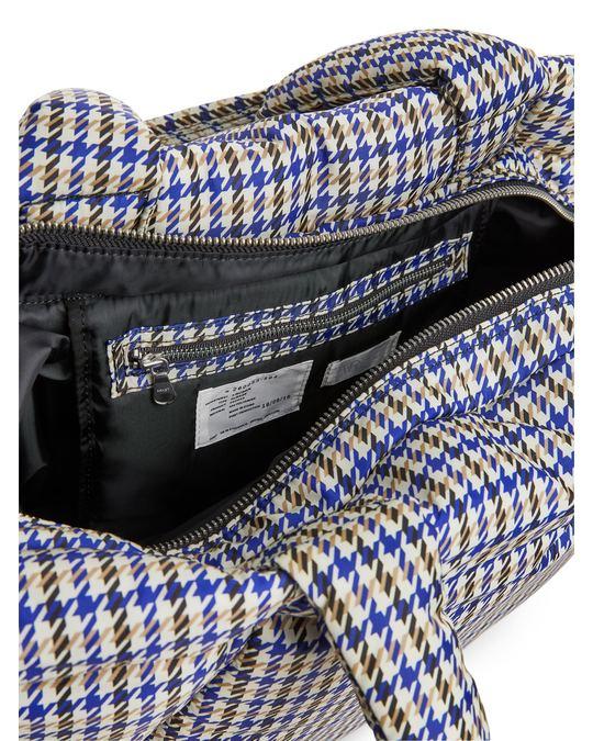 Arket Oversized Puffy Tote Bag Blue/Beige