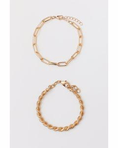2er-Pack Armbänder Goldfarben