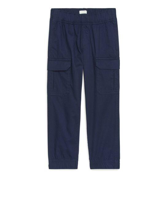 Arket Cargo Trousers Dark Blue