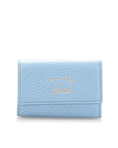 Gucci Swing Leather Key Holder Blue