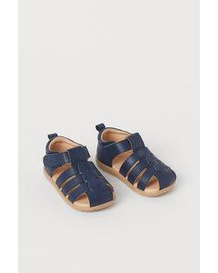 Sandalen Marineblau