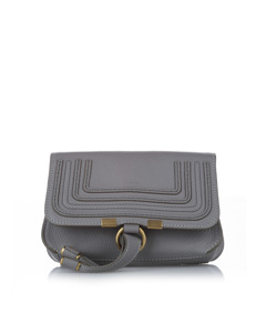 Chloe Marcie Leather Belt Bag Gray