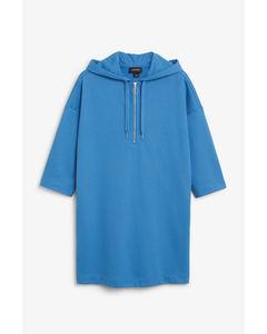 Long hoodie dress Royal blue