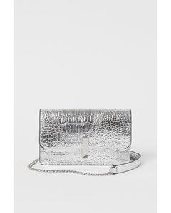 Small Shoulder Bag Silver-coloured