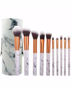 10pk Makeup Brush, Cylindric Case