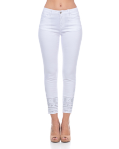 Jeans With Embroidery And Sequins In The Low Part