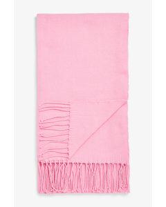 Lightweight Tassel Scarf Pink