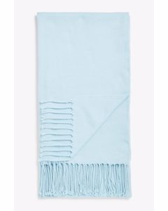 Lightweight Tassel Scarf Light Blue