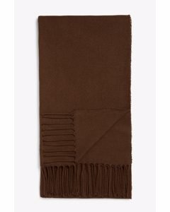 Lightweight Tassel Scarf Brown